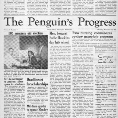 The Penguin's ProgressNovember 10, 1960  Vol. 3 No. 7