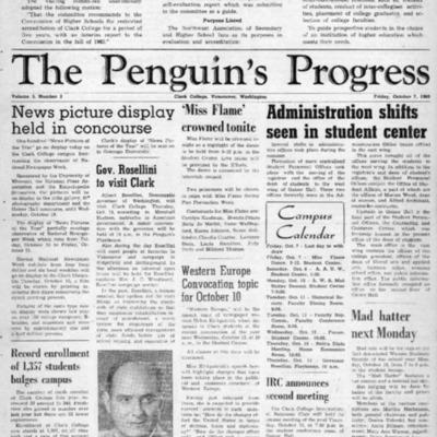The Penguin's ProgressOctober 7, 1960  Vol. 3 No. 2