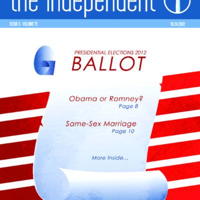 The Independent October 24, 2012  Vol. 75 No. 3